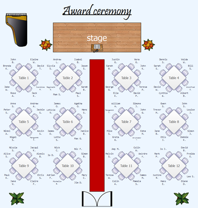 award ceremony layout