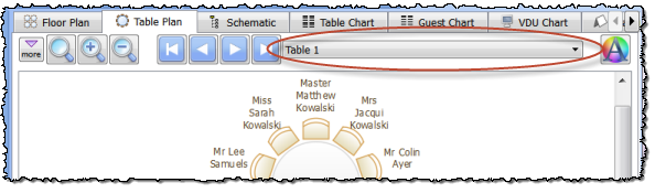 table plan navigation