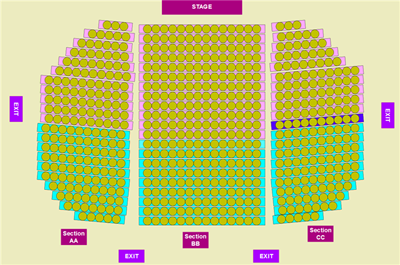 theatre/church style seating plan