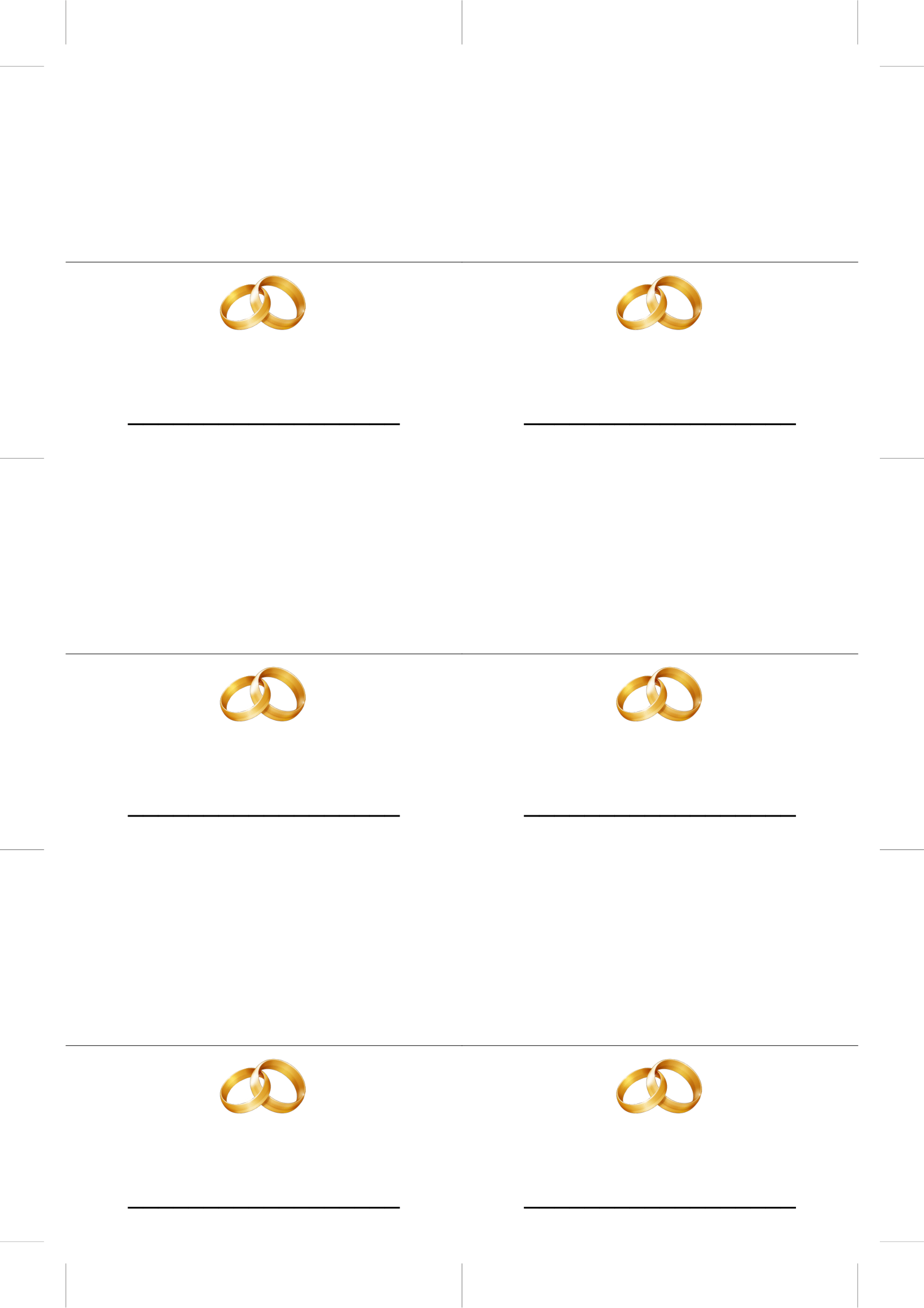 Place Card Template   Place Card Templates